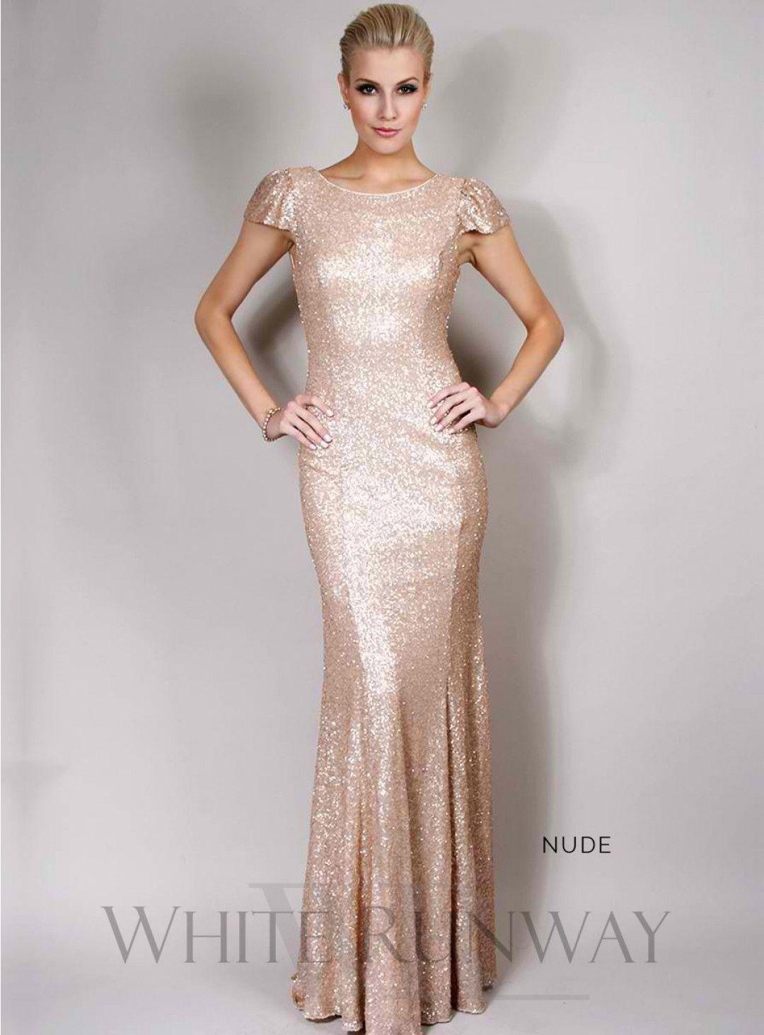 Sequinned cap sleeve dress stunning full length sequinned dress
