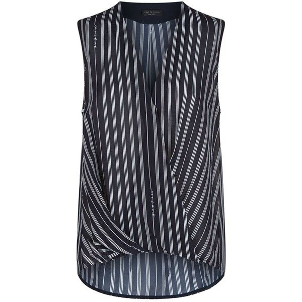 d86ce582ac627 Rag   Bone Sleeveless Victor Blouse ( 345) ❤ liked on Polyvore featuring  tops