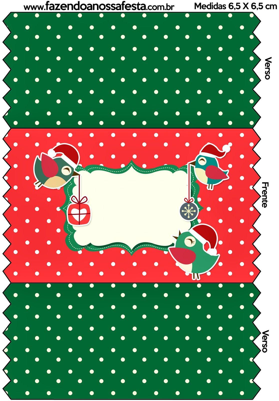 Pajaritos de Navidad: Etiquetas para Imprimir Gratis.. | Printables ...