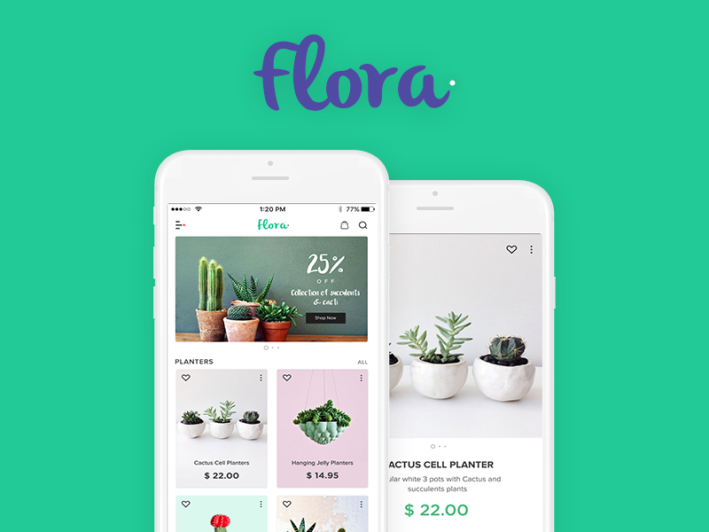 Hello Dribbblers,  This is a part of shopping app but for buying gardening products and plants also. Go green :)   See the full views in the attachments.  Best!  Deepika