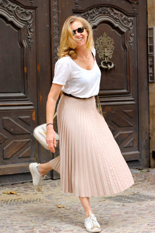 1ff5b262f6cc24 JUPE PLISSEE ROSE POUDRE MANGO | Мода | Jupe plissée rose, Jupe ...