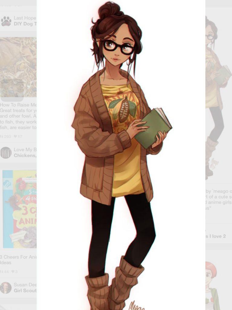 Character Design Kawaii : Mocha fullbody so hipster anime food girls