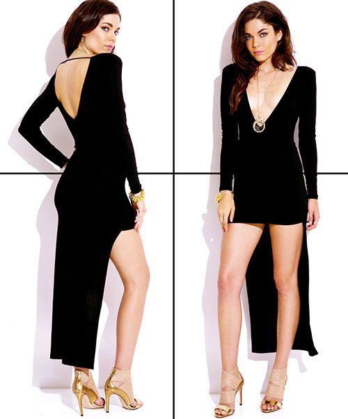 little black dress in plus size! Shop this plus size long sleeve LBD at http://1015store.com/plus-size