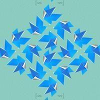 Hedvábný šátek Birds Origami 30x150