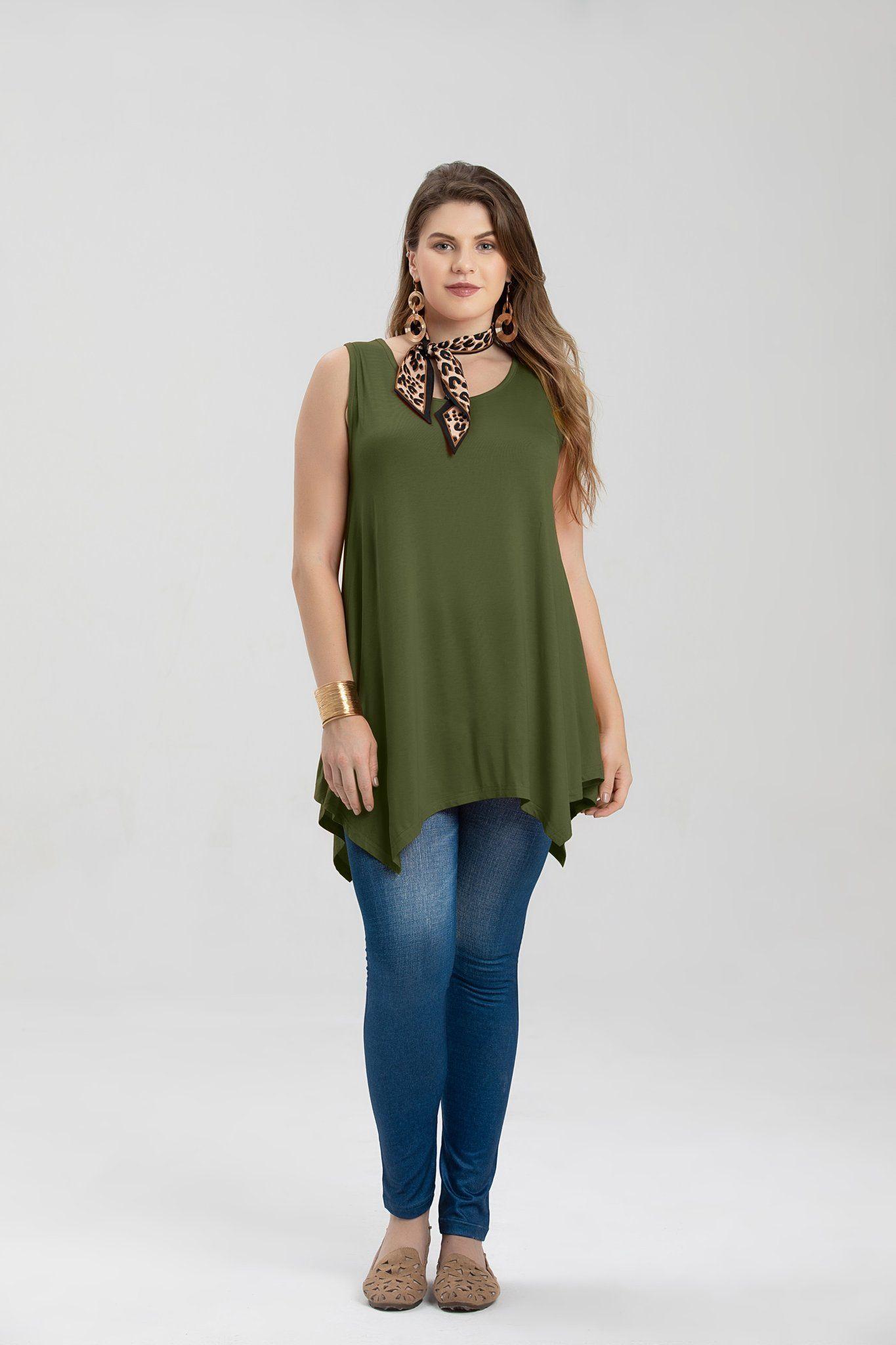 a5600163c71 larace women plus size solid basic flowy tank tops summer sleeveless tunic  ,women's sleeveless tunic tops,long flowy tunic tops,tunic tops for  leggings on ...