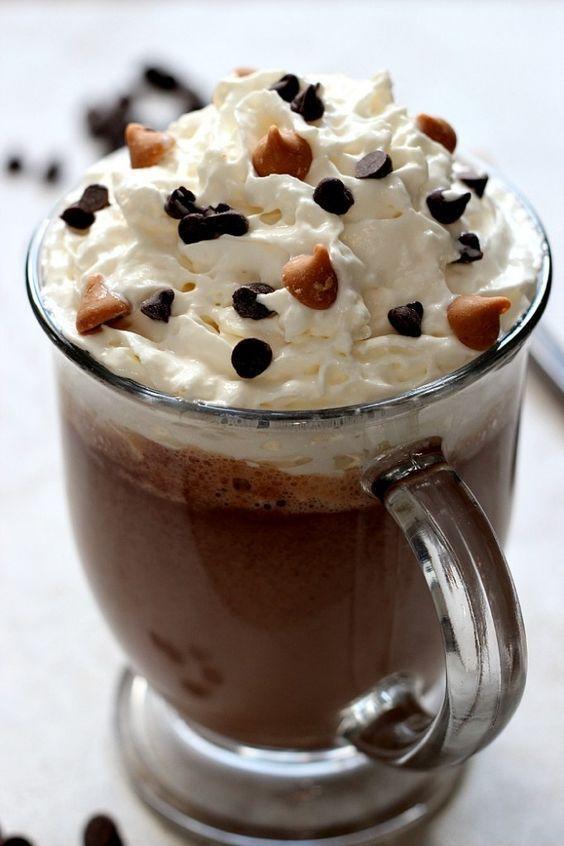 Peanut Butter #HotChocolate Recipe #ホットチョコレート はおおよそココアと同じです。そこにピーナッツバターでフレーバーをつけたもの。#お腹ペコリン部