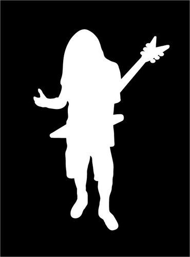 Dimebag Darrell Abbott Dime Tribute Vinyl Decal Sticker