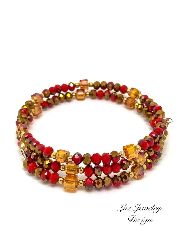 bracelet mvintage red nude and heritage gold collection print reversible