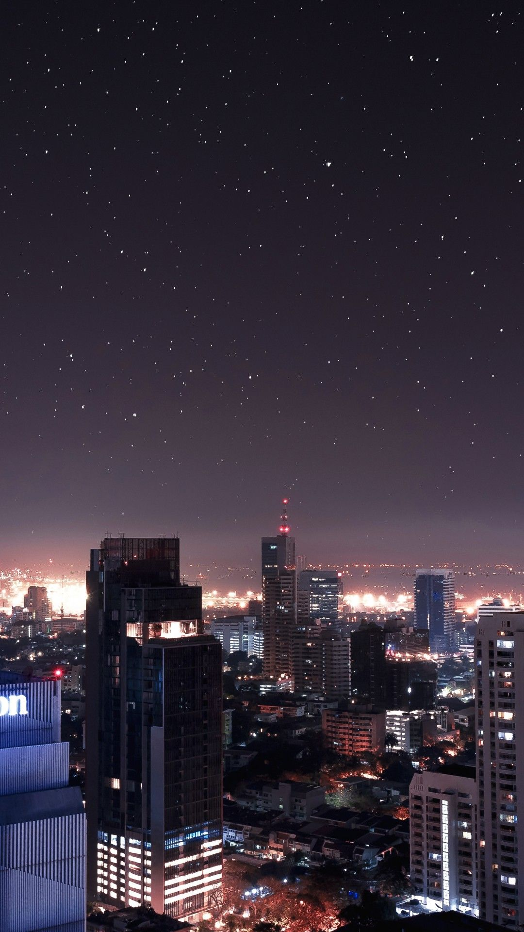 Night Stars Buildings Skyscrapers Cityscape City Aesthetic Sky Aesthetic Beautiful Wallpapers Backgrounds