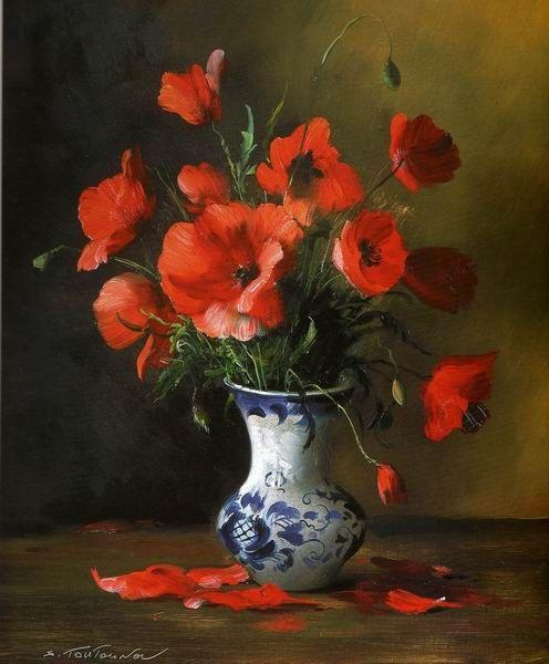 Painting by Russian artist Serguei Toutounov.