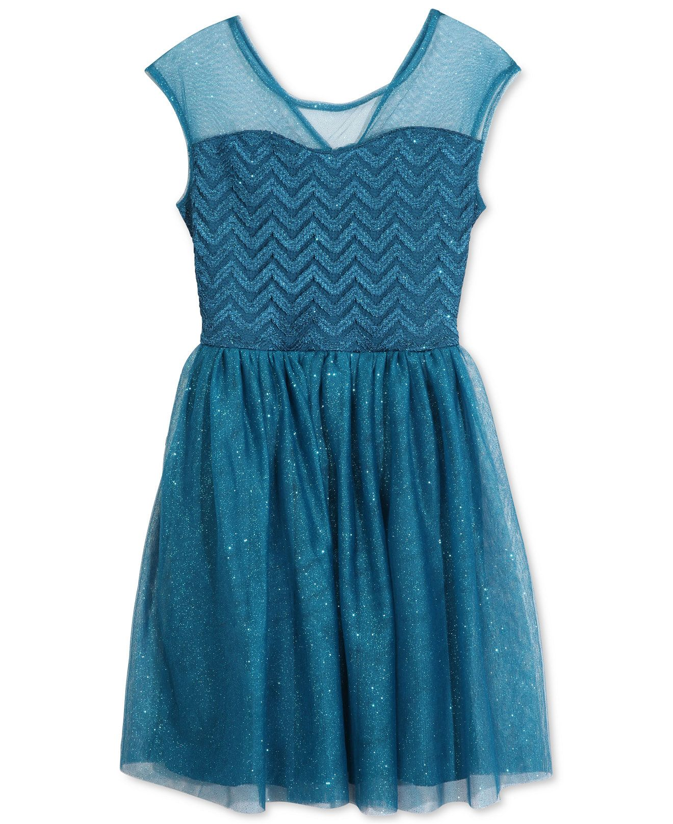 Speechless Girls\' Illusion Zigzag Glitter Dress - Girls 7-16 - Kids ...