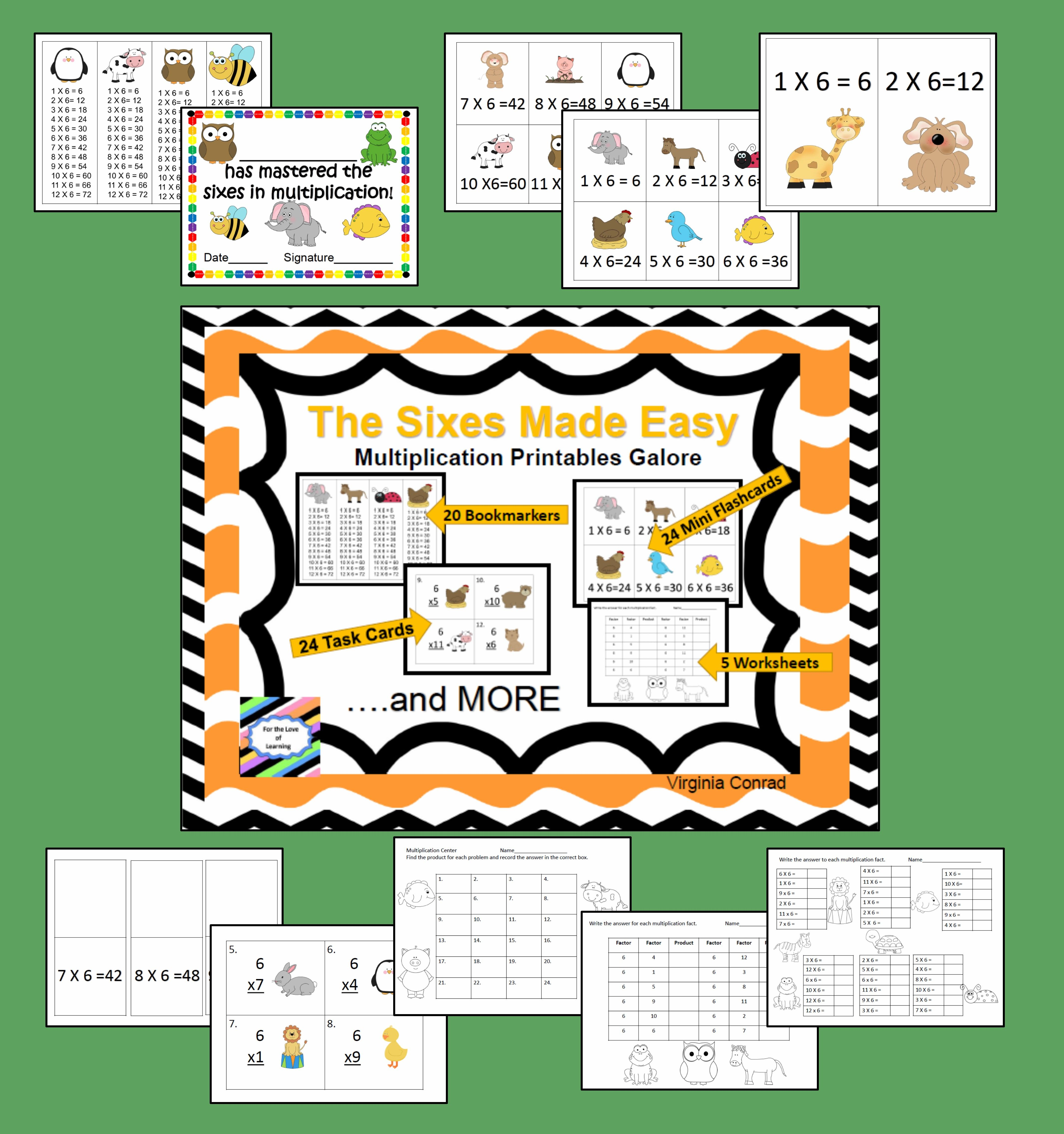 Sixes Made Easy Multiplication Printables Galore