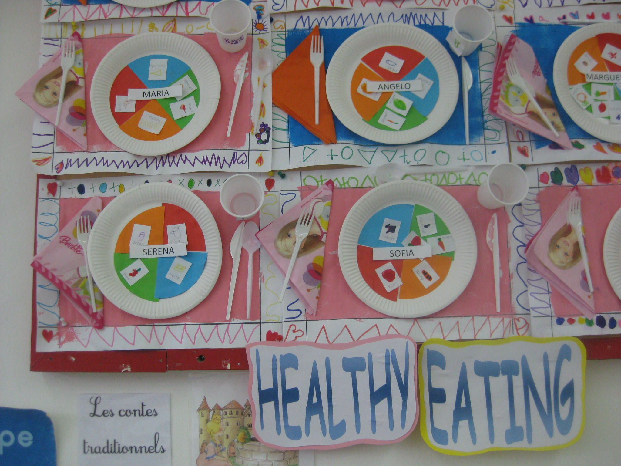 We Made These Place Settings In My 4 5 Year Old Class The Children Had The Four Main Food Groups