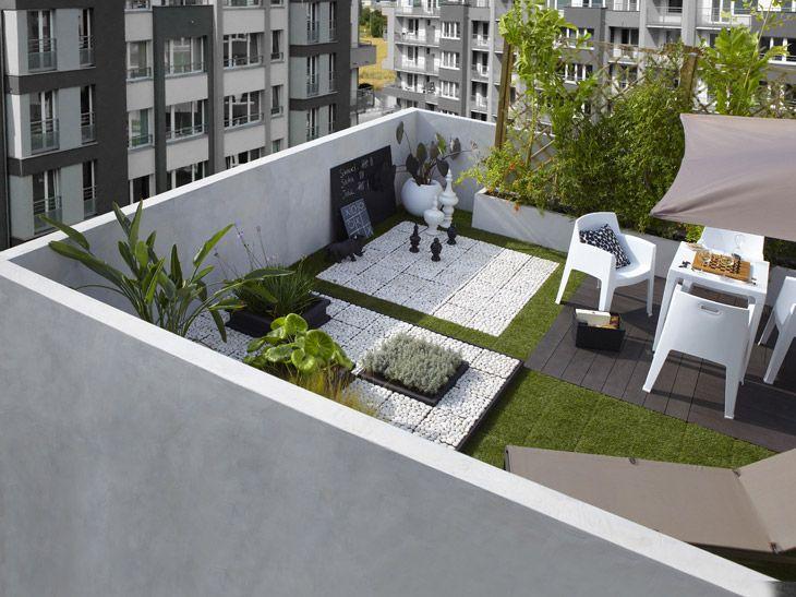 Une terrasse sur un balcon leroy merlin terrazas - Retrete leroy merlin ...