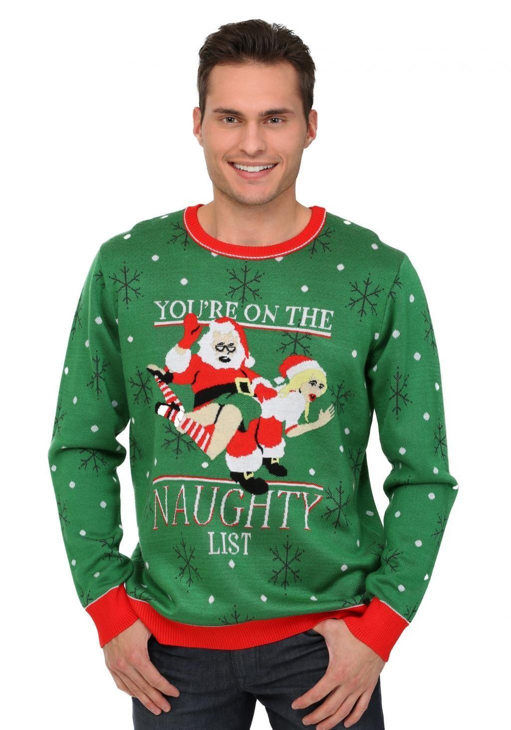 Vilain est le nouveau Nice Christmas Jumper Sweater Funny Women/'s Femmes Enfants Noël