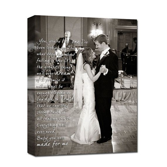 First Dance Wedding Canvas Photo Decor By Geezeescustomcanvas 140 00 Anniversary Gift For Alexis