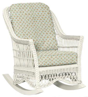 Wicker Rocking Chair By Maine Cottage | Francine Rocker #wickerfurniture