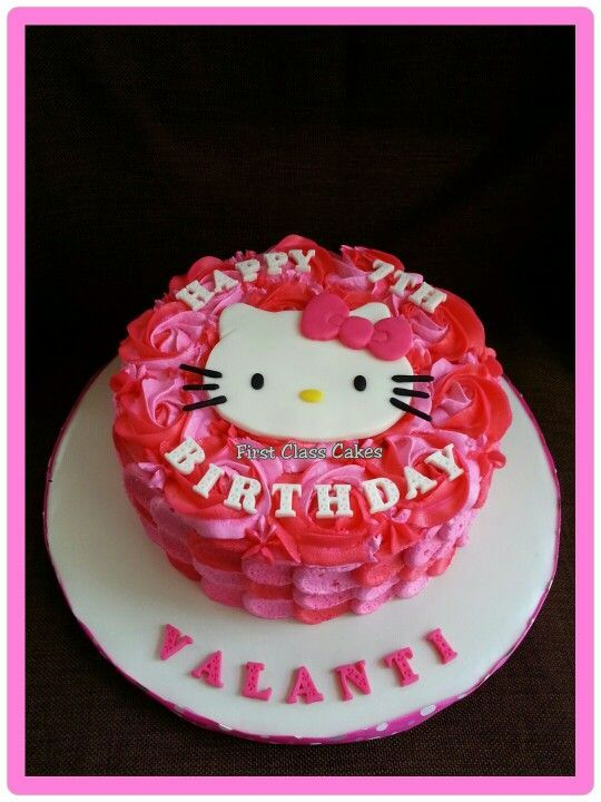 hello kitty buttercream cake Recherche Google Fte Mia Nixie