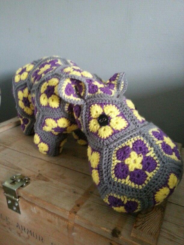 Hippo (patroon heidi bears)   JesStijl! (Made by me )   Pinterest ...