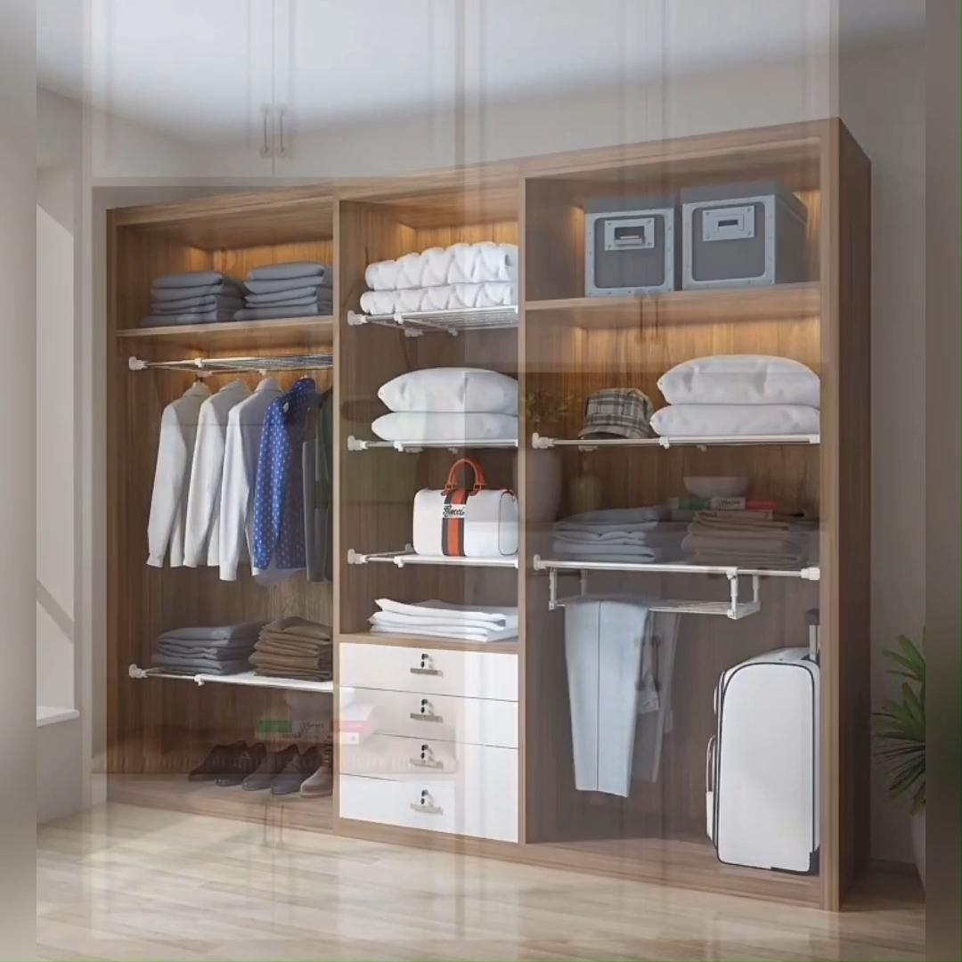 Expandable Closet Tension Shelf Storage Rack for Wardrobe, Kitchen, Bathroom