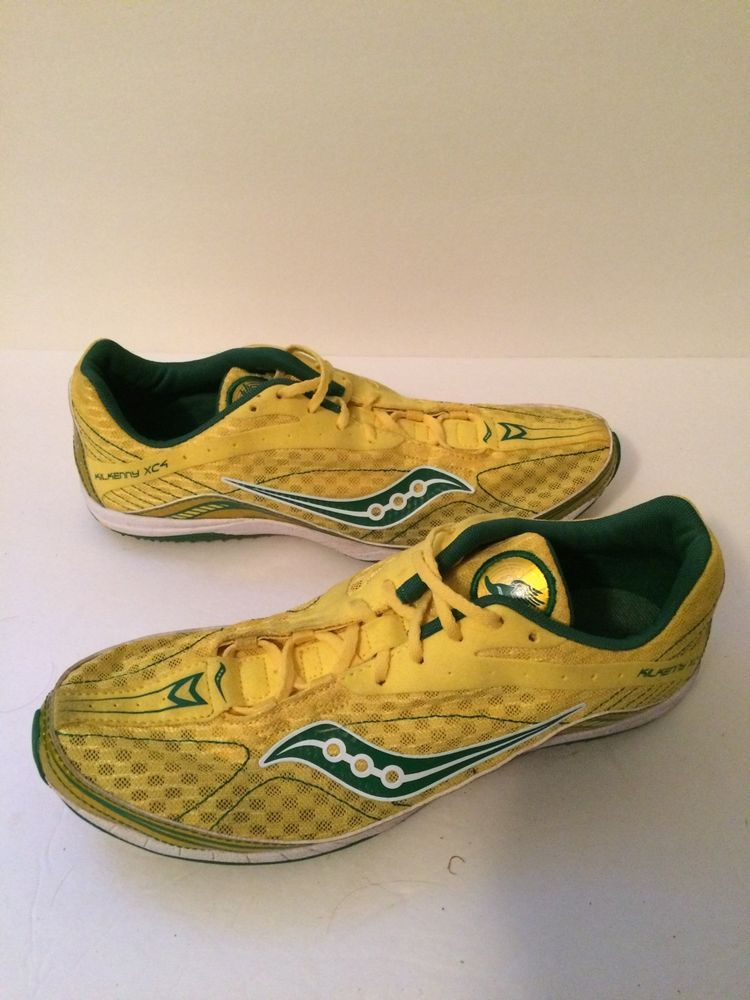 Saucony Men's Kilkenny XC4 Running Spike Track Shoes Green Yellow Cross Country #Kilkenny #RunningCrossTraining