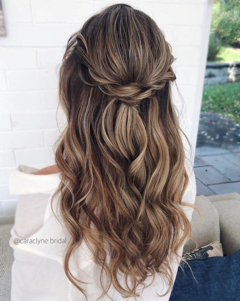 55 Brillante Hochsteckfrisuren Halboffen Die Perfekt Fur Sie Sind In 2020 Long Hair Styles Hair Styles Wedding Hairstyles For Long Hair