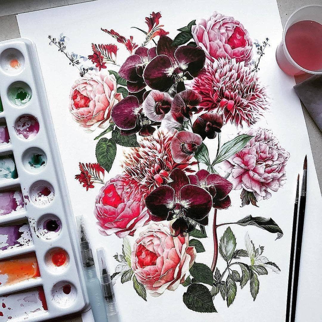 Vse Grani Akvareli On Instagram Watercolorist Helena
