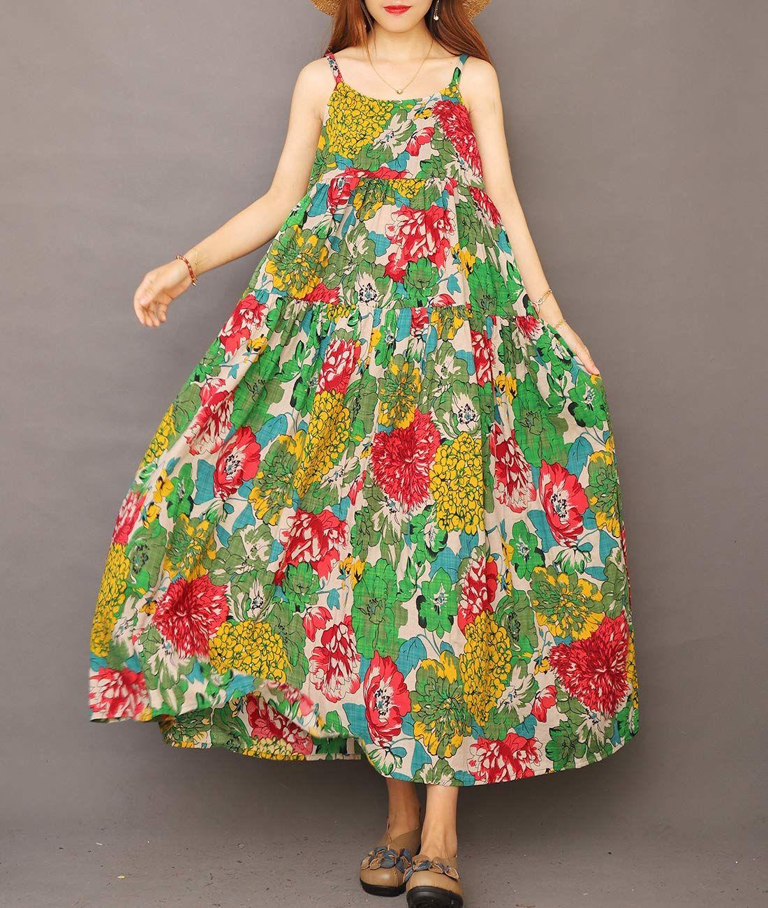 Yesno Casual Bohemian Spaghetti E75 Cr10xxl Summer Dresses For Women Beautiful Summer Dresses Long Maxi [ 1300 x 1100 Pixel ]