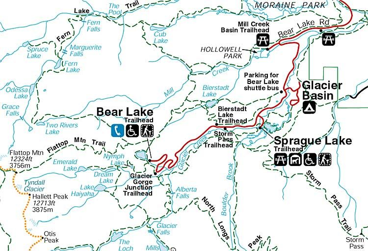 RMNP- Bear Lake Road Map | Colorado | Rocky mountain ...