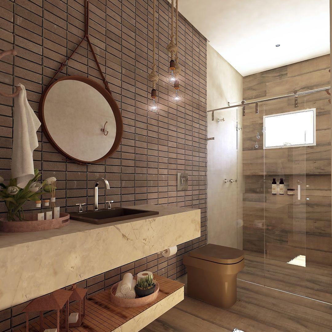 Hoje Dia De Apresentar Os Banheiros Do Projeto Para Sede Da  # Muebles De Bano Fazenda