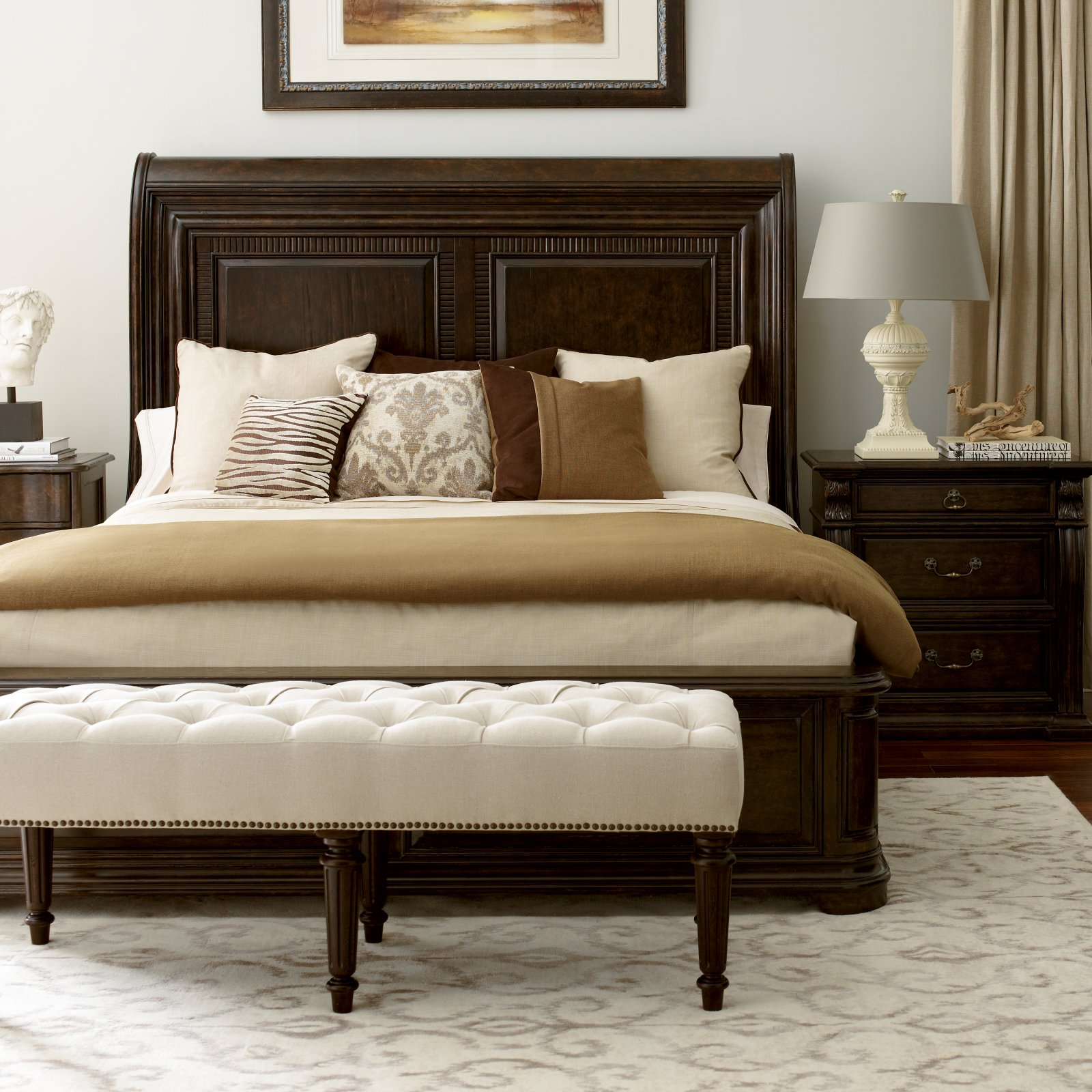 A.R.T. Furniture Collection One Platform Sleigh Bed, Size