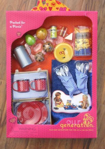 """Our Generation Dolls Packed for A Picnic Set for Dolls 18/"""""""