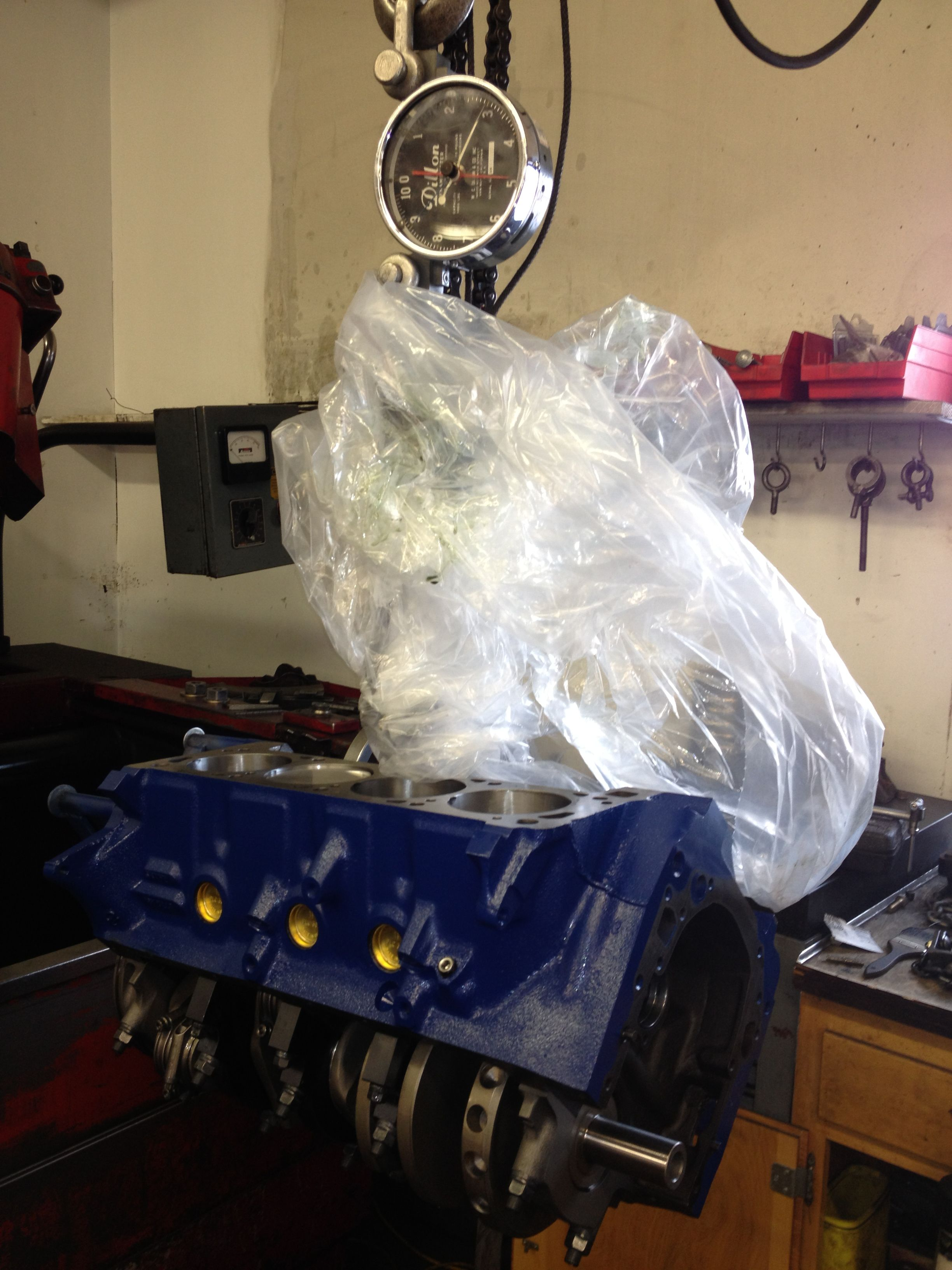 400 Ford stroker short block  #300, includes engine stand