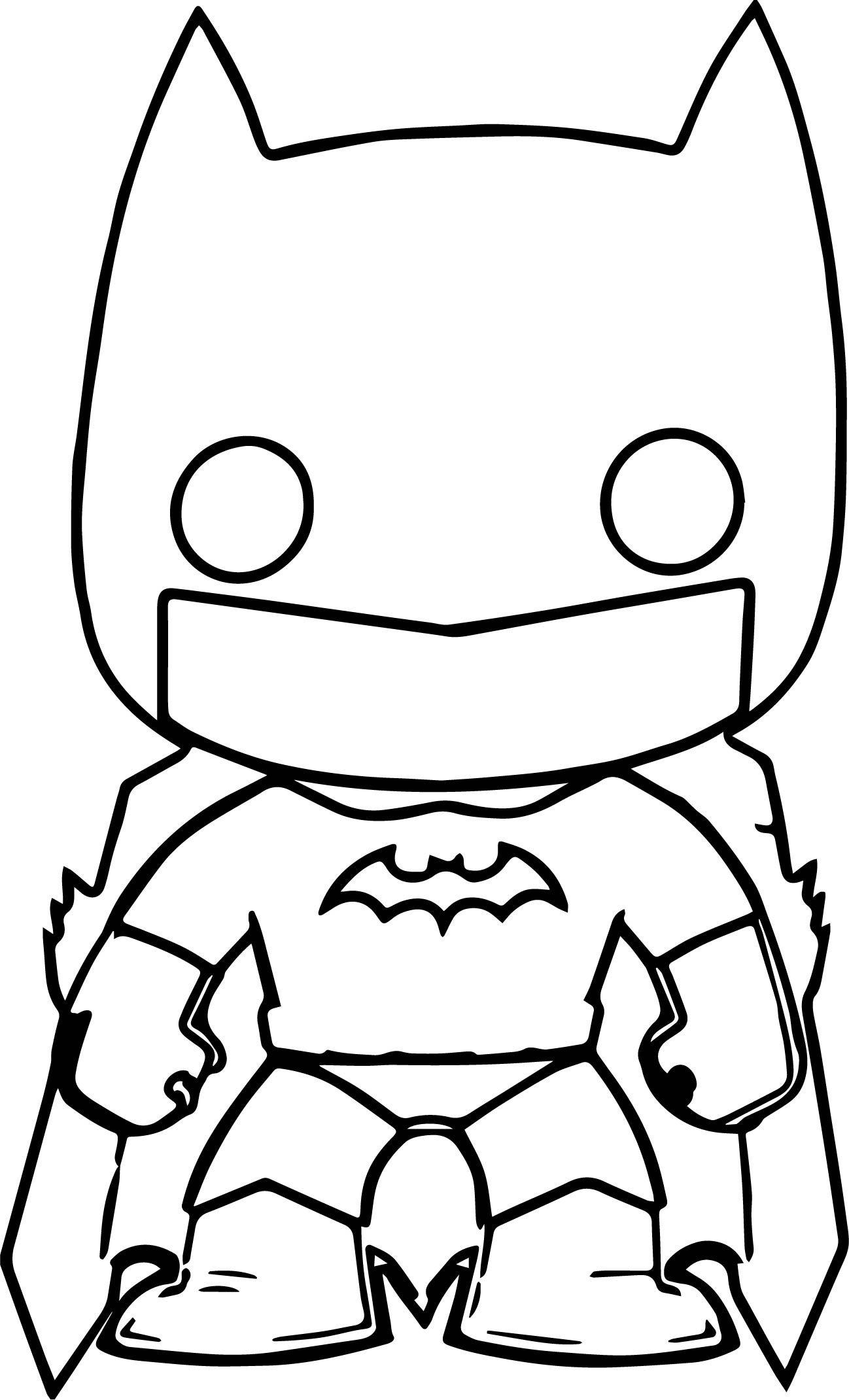 nice Batman Funko Chibi Cartoon Figure Graphic Coloring