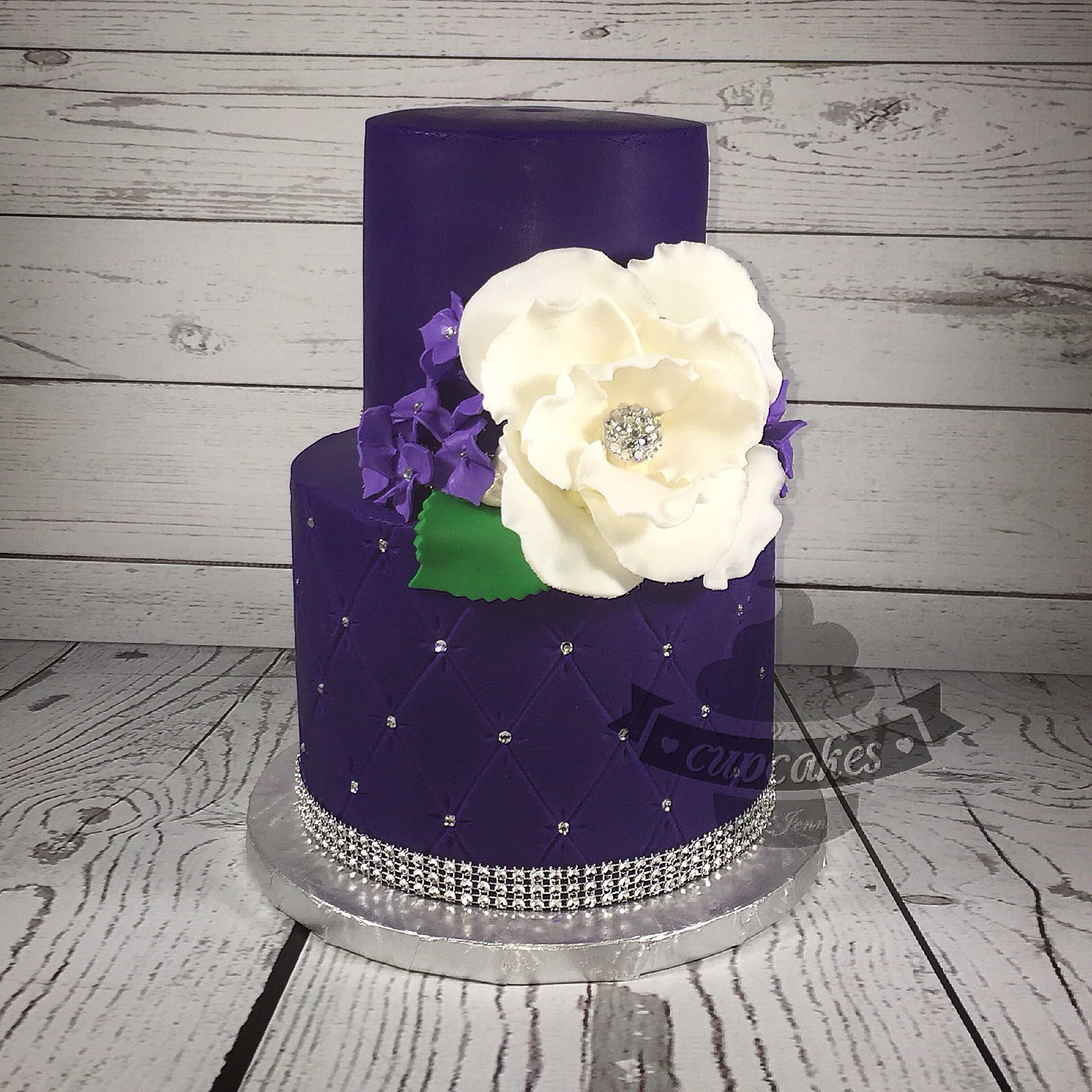 40th Birthday Purple Peonies Cake For A Very Special Person