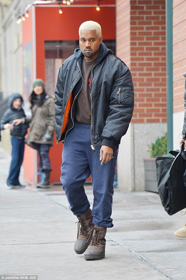 Kanye West Debuts Platinum Blonde Hair As He Steps Out In