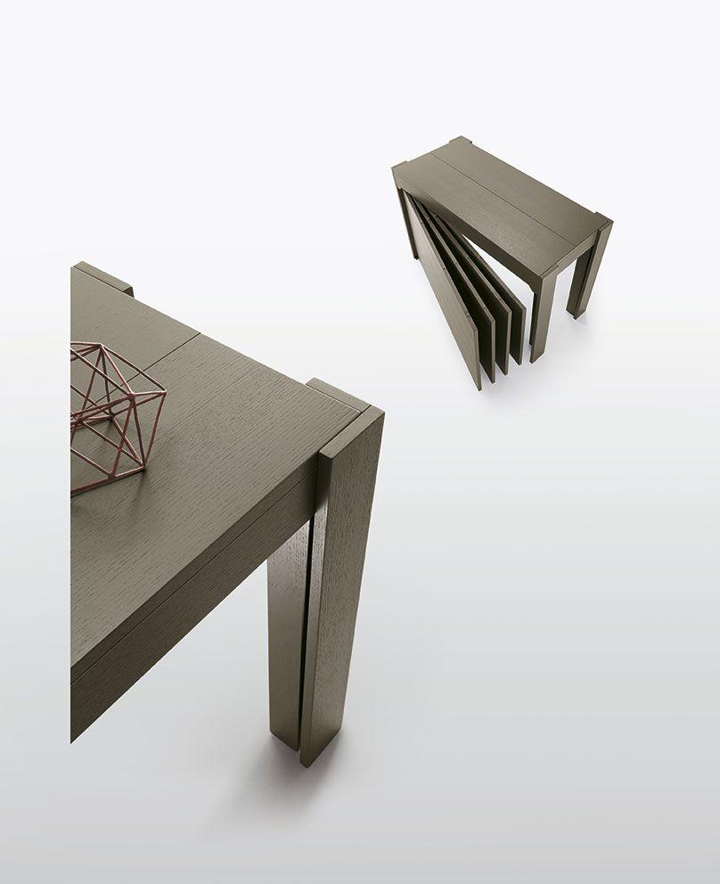 Tavolo Sedit Modello Fiesta Tavolo Consolle Disponibile In Due Larghezze E Due Lunghezze Allunghe Integrate A Convertible Table Marsala Concrete Furniture