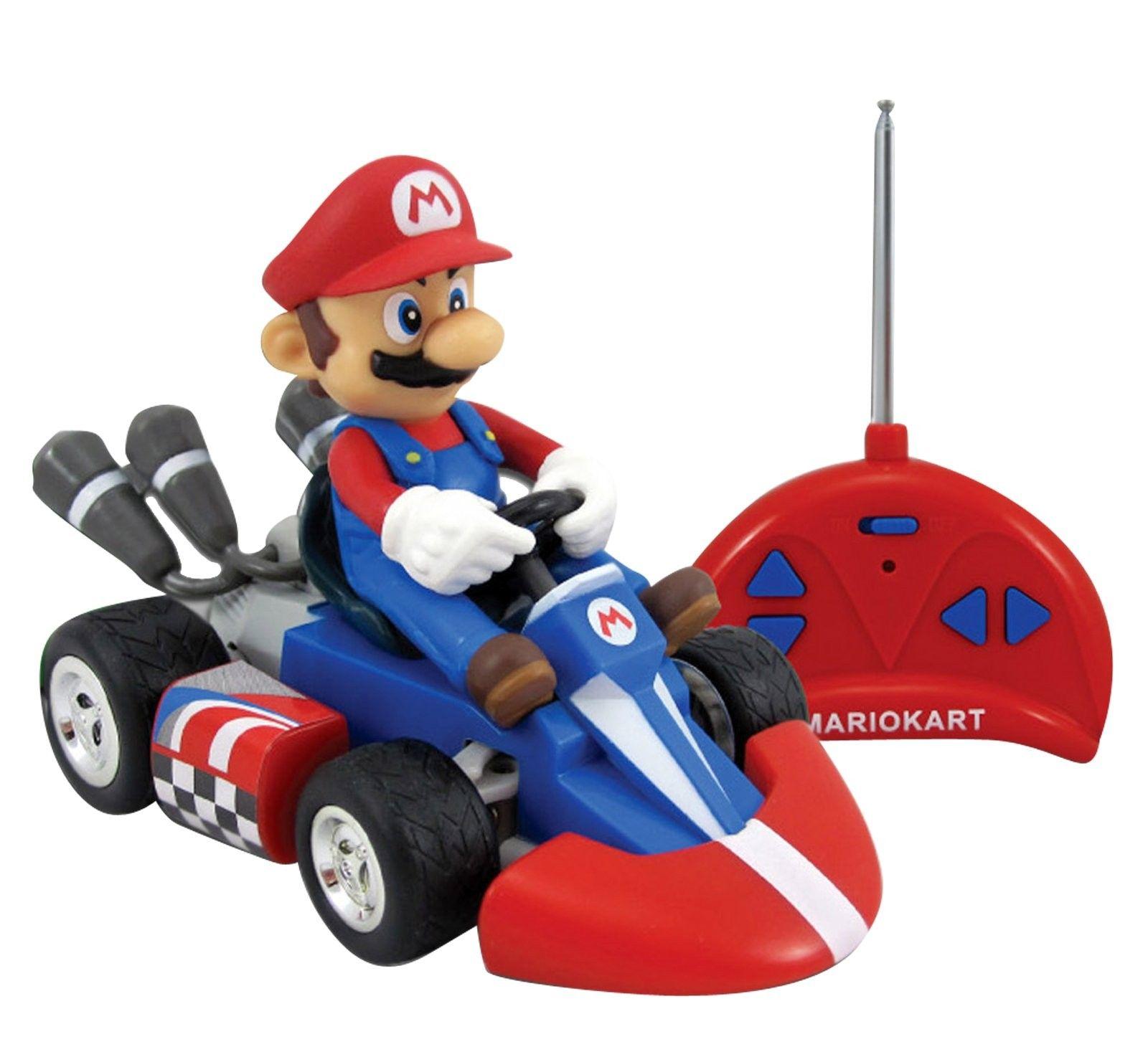 Super Mario Bros Mario Kart Small Radio Control Car Includes 1 Radio Controlled Car 1 24 Scale 1 Remote Con Mario Kart Super Mario Toys Radio Control