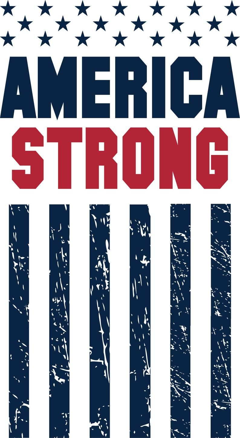 America Strong SvG American Flag Distressed Vintage Etsy