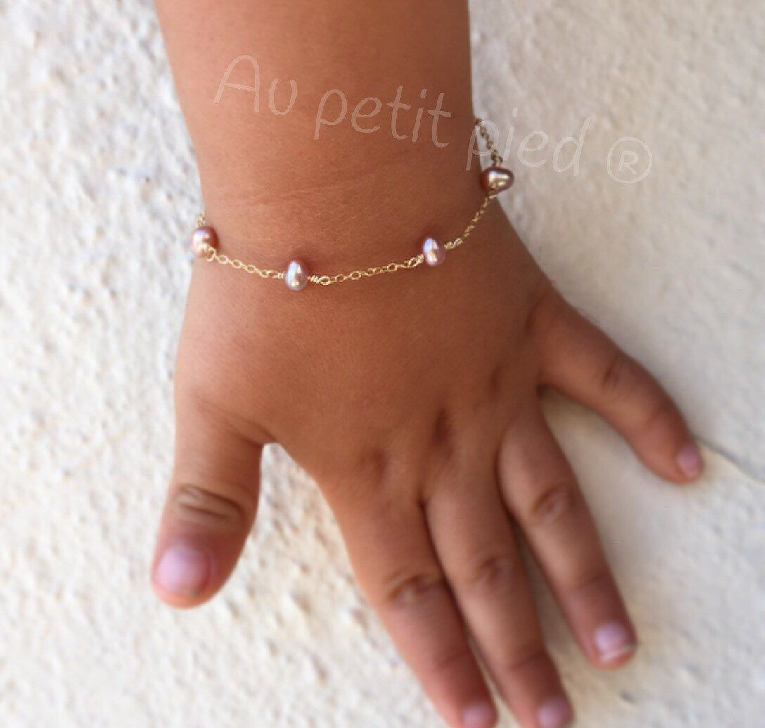 Pearl baby braceletbaby shower gift baby girl gifttoddler