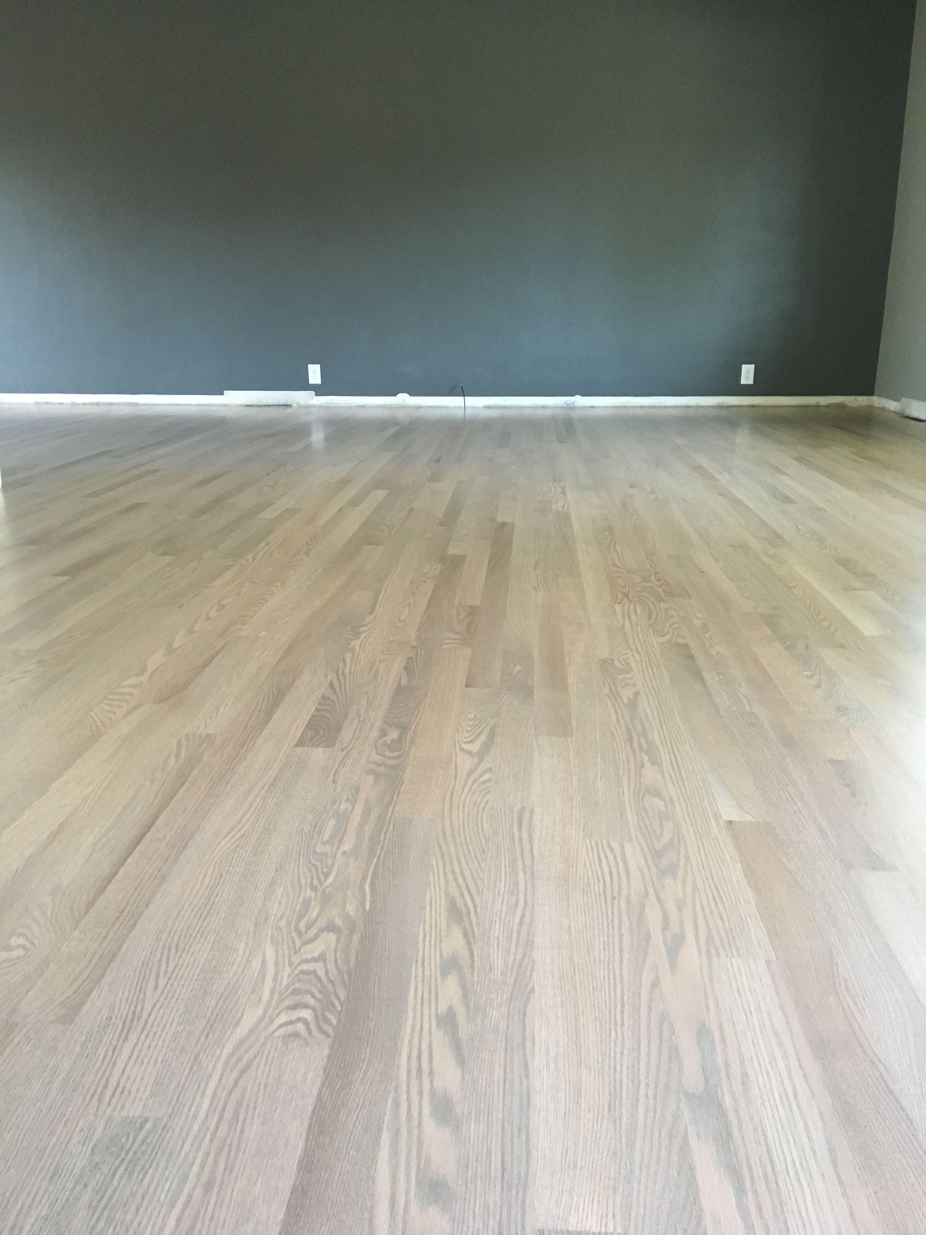 Duraseal Silvered Gray On Red Oak Red Oak Floors Red Oak