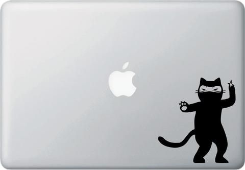 MB Cat Ninja Cat Shuriken D Laptop Vinyl Decal YYDC - Vinyl decal cat pinterest