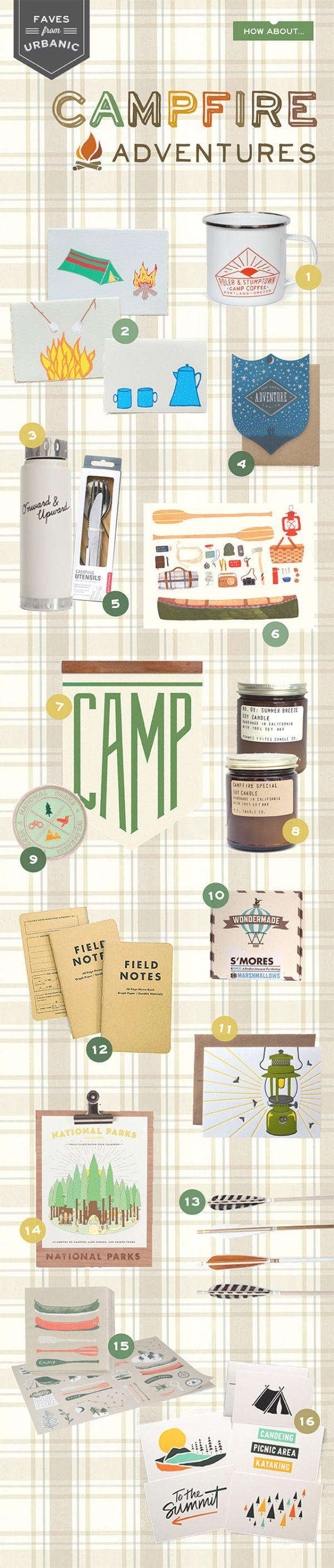 Campfire Adventures Stationery Round Up via Oh So Beautiful Paper: http://ohsobeautifulpaper.com/2014/07/urbanic-faves-campfire-adventures/ | 1. Stumptown Coffee Roasters; 2. Gold Teeth Brooklyn; 3. I