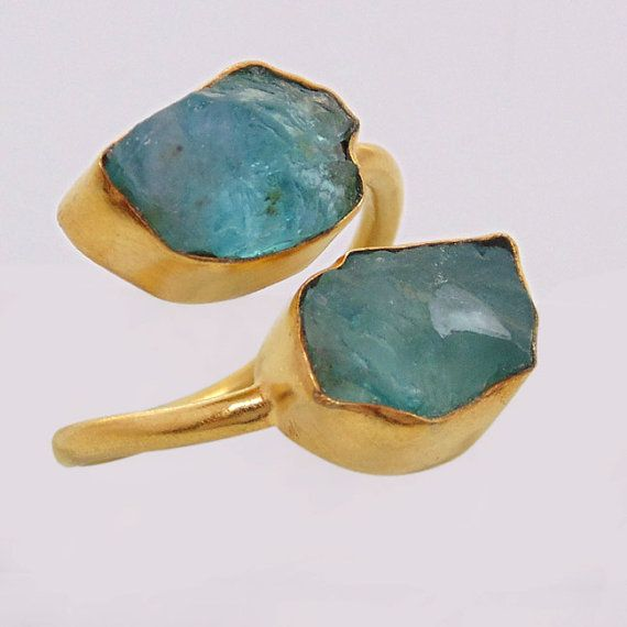 Hey, I found this really awesome Etsy listing at https://www.etsy.com/listing/235240702/18k-gold-plated-ring-raw-apatite-ring