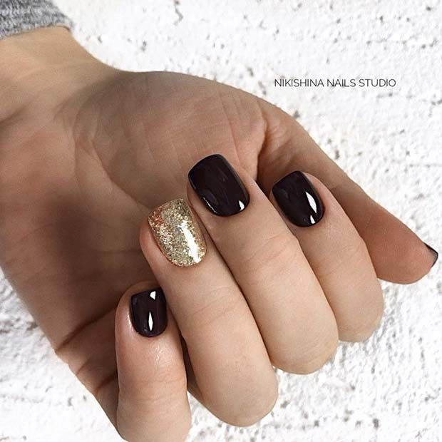 Photo of 21 Beautiful Black and Gold Nail Designs | Page 2 of 2 | StayGlam