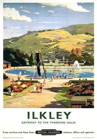 TT86 Vintage Harrogate LNER Railway Travel Travel Poster Re-Print A4