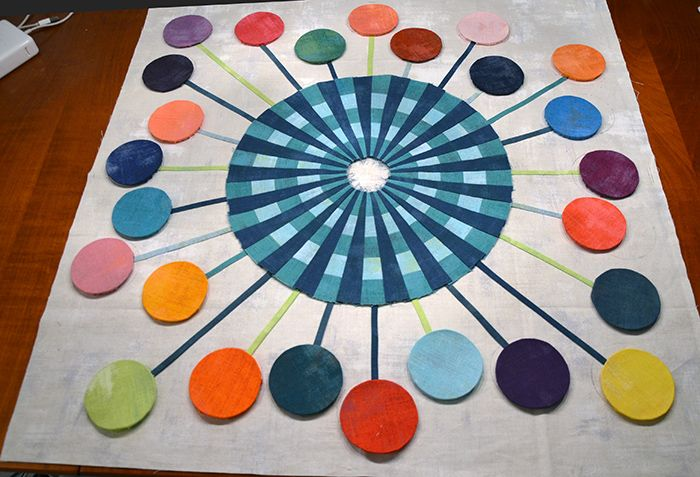Laura Quilt Amersfoort.Centre Rabbit Hole Quilts Flower Quilts Sarah Fielke