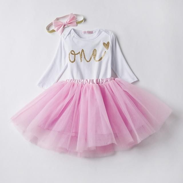 7f81ccadf Baby Girl Clothes Newborn Bebes Clothing Sets 1 Year Toddler Tutu Suits  Baptism First Birthday Outfits Infant Christening Gift