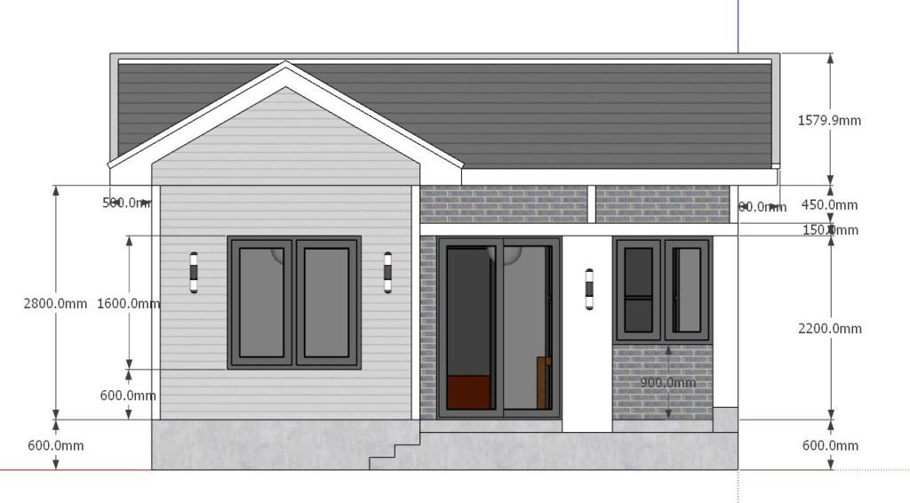 Small House Design Plans 5x7 With One Bedroom Gable Roof Tiny House Plans Small House Design Small House Design Plans Home Design Plans
