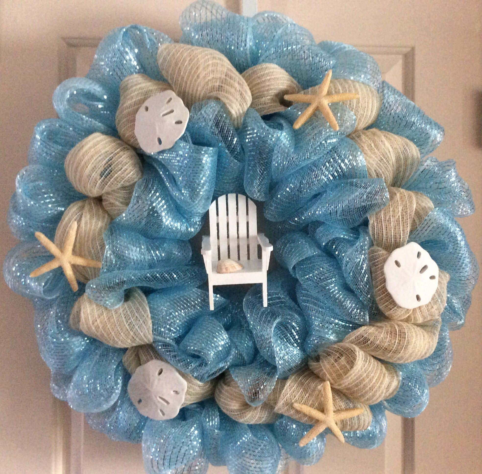 nice summery wreath found the little wooden adirondack chair for 1